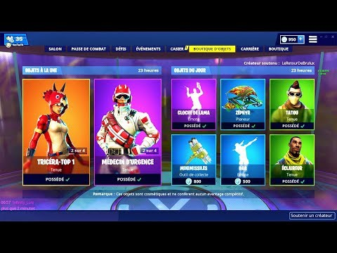 BOUTIQUE FORTNITE du 23 Janvier 2019 ! ITEM SHOP January 23 2019 !
