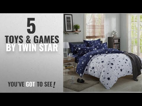 Top 10 Twin Star Toys & Games [2018]: Kids Cotton Blend Star Twin Size Bedding Sheets Set Bed