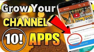 Top 10 Android APPS that a YOUTUBER Must Have in Hindi I Get More Views and Subscribers
