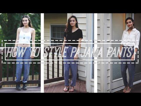 How To Style Pajama Pants || Gifs & Garb