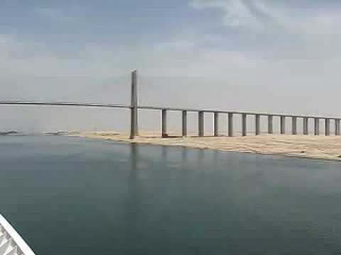 Mubarak Peace Bridge, Suez Canal