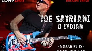 Joe Satriani Backing Track - D Lydian  - GuitarLava - Craig Kelley