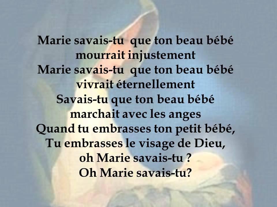 Lyric mary did u know lyrics : Marie savais-tu? ( Mary did you know? ) - YouTube