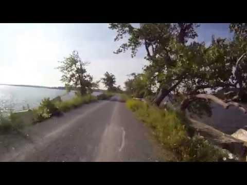 Island Line Trail Burlington VT southbound June 2014 virtual cycling bike training