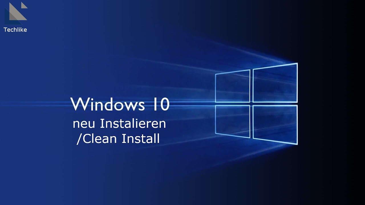 Windows 10 Neu Aufsetzen