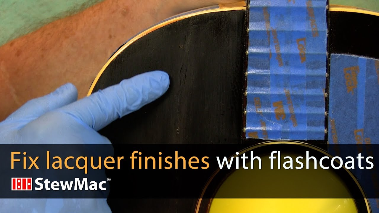 Blend new lacquer into old lacquer with flash coats