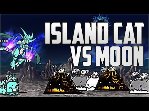 The Battle Cats | Island (Whale) Cat VS Moon Stages!