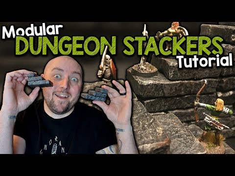 Dungeon Stackers - A Modular Stair System for D&D - Tutorial (Black Magic Craft Episode 072)