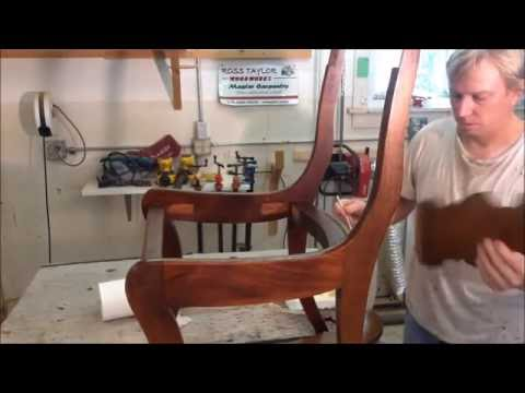 DINING ROOM CHAIRS ( PART 1/ 4),RE-GLUE AND SEAT RE-COVER , FURNITURE REPAIR