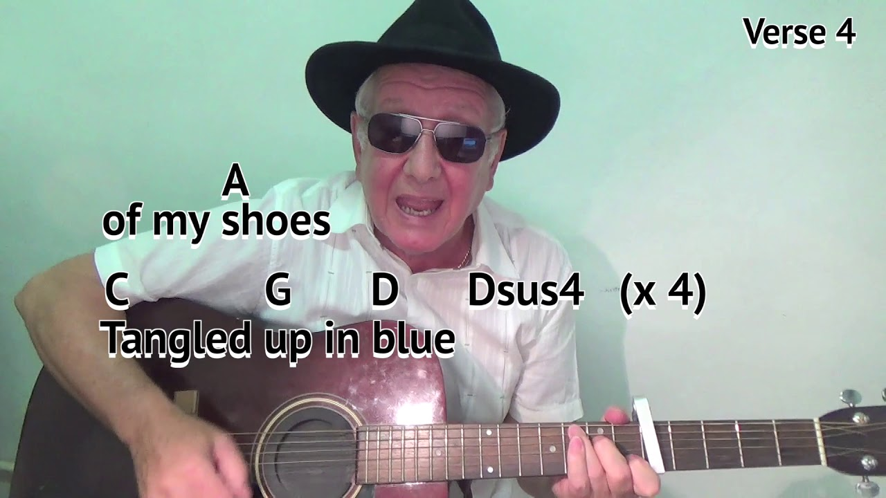Tangled Up In Blue D Bob Dylan Cover Easy Chord Guitar Lesson