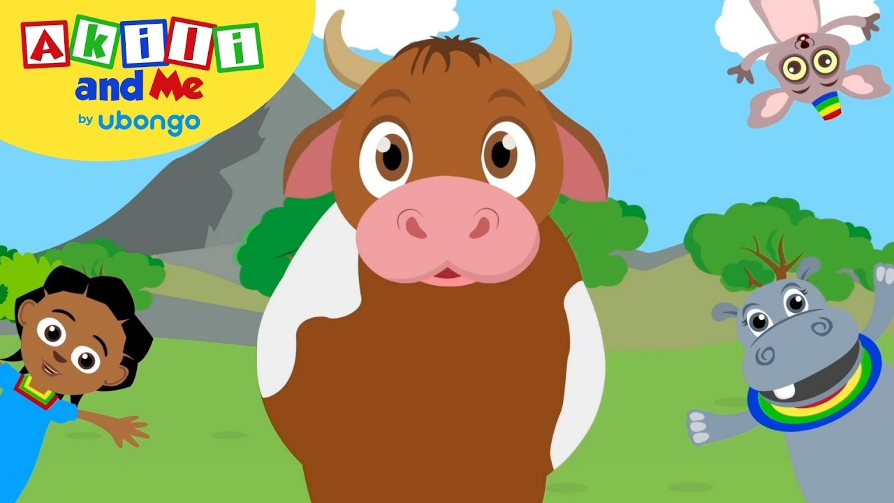 A Chicken a Cow and a Goat!   Animal Songs from Akili and Me   Educational Cartoons for Preschoolers