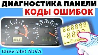 Діагностика та коди помилок комбінації приладів Chevrolet NIVA