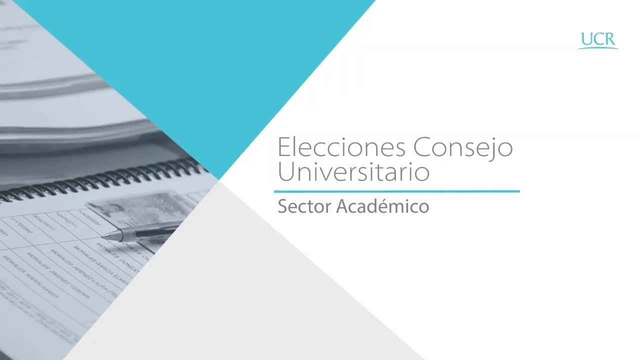 Damos inicio a la segunda ronda, de la elección de la Representación Académica en el Consejo …