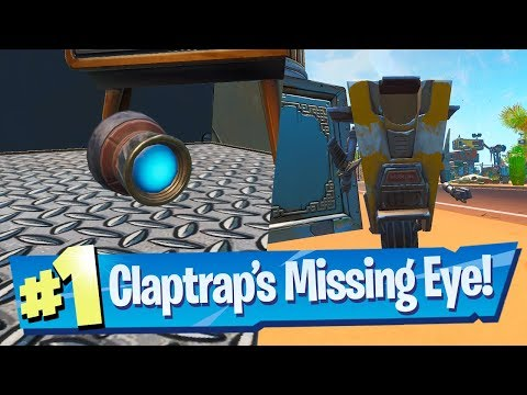 Find Claptrap's Missing Eye And Then Return It To Him Location - Fortnite (Pandora Challenge)
