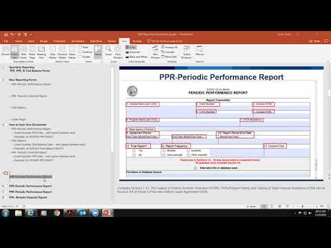 Quarterly Reports Overview (PPR and PFR)