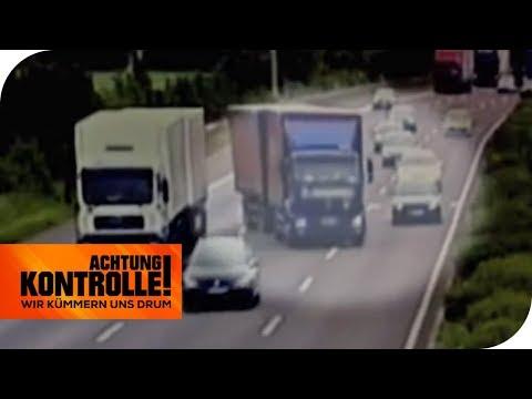 'Todesstrecke' Autobahn 2: Polizei erwischt fahrlässige LKW-Fahrer!   Achtung Kontrolle   kabel eins