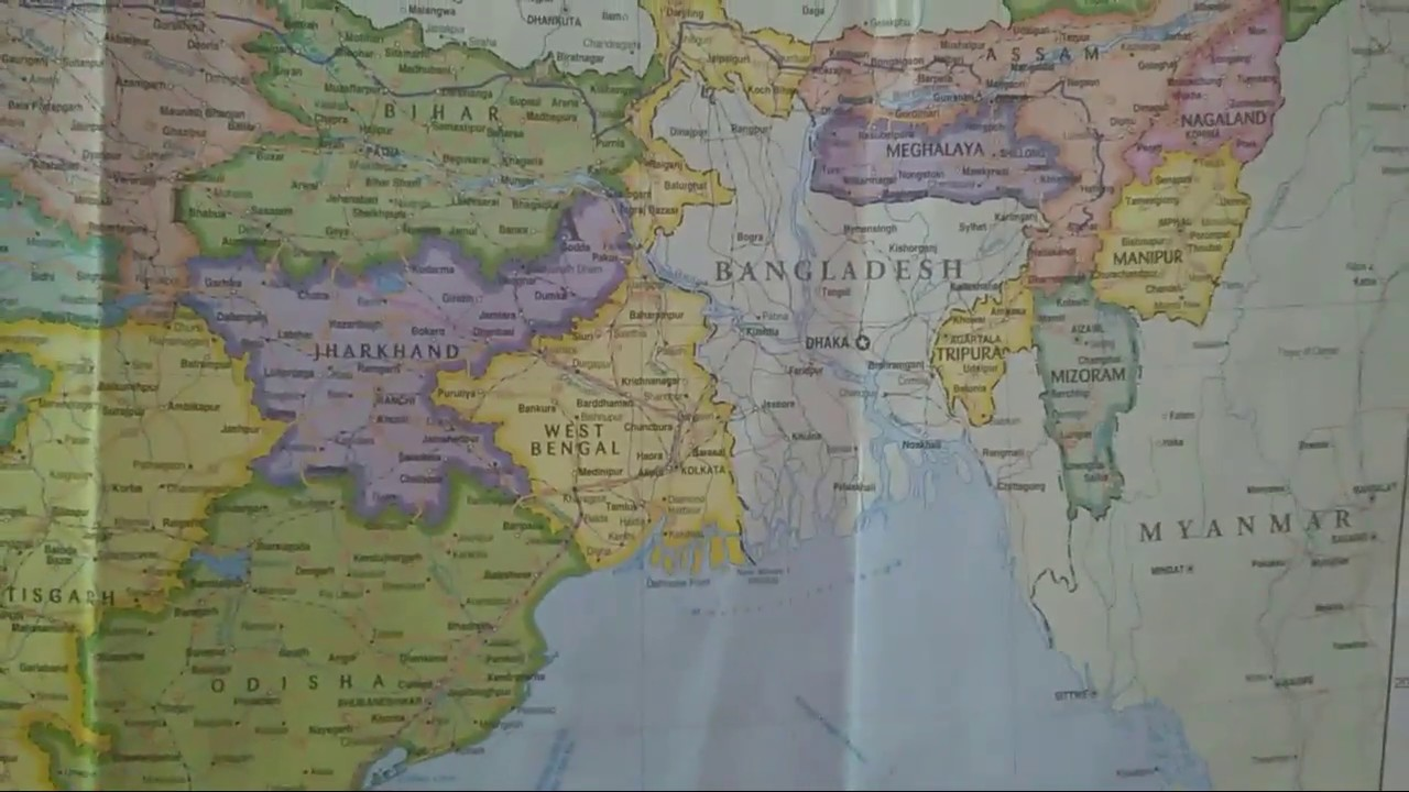 Indian map north india youtube indian map north india gumiabroncs Image collections