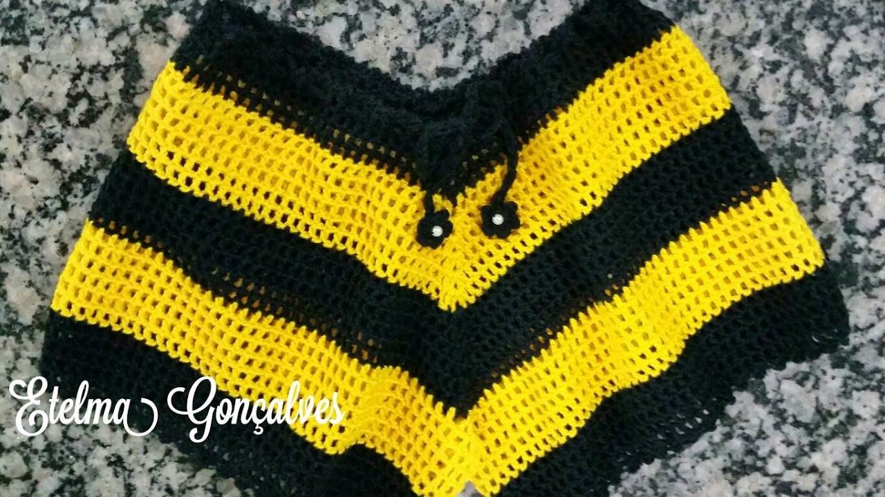 0325e756b Short listrado em crochê (P) Moda Praia - 1 parte - YouTube