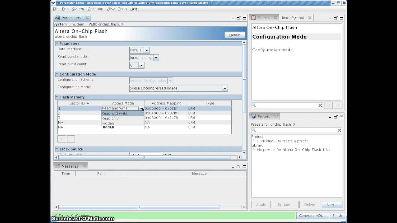 Configuring Altera MAX 10 User Flash Memory - YouTube