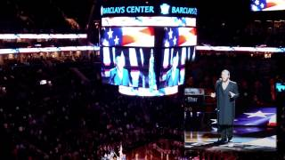 Cantor Yaakov 'Yanky' Lemmer Sings US National Anthem at Barclay's Center