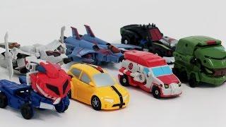 Transformers Animated KO Mini Optimus Prime Bumblebee Megatron 8 Vehicles Robot Car Toys