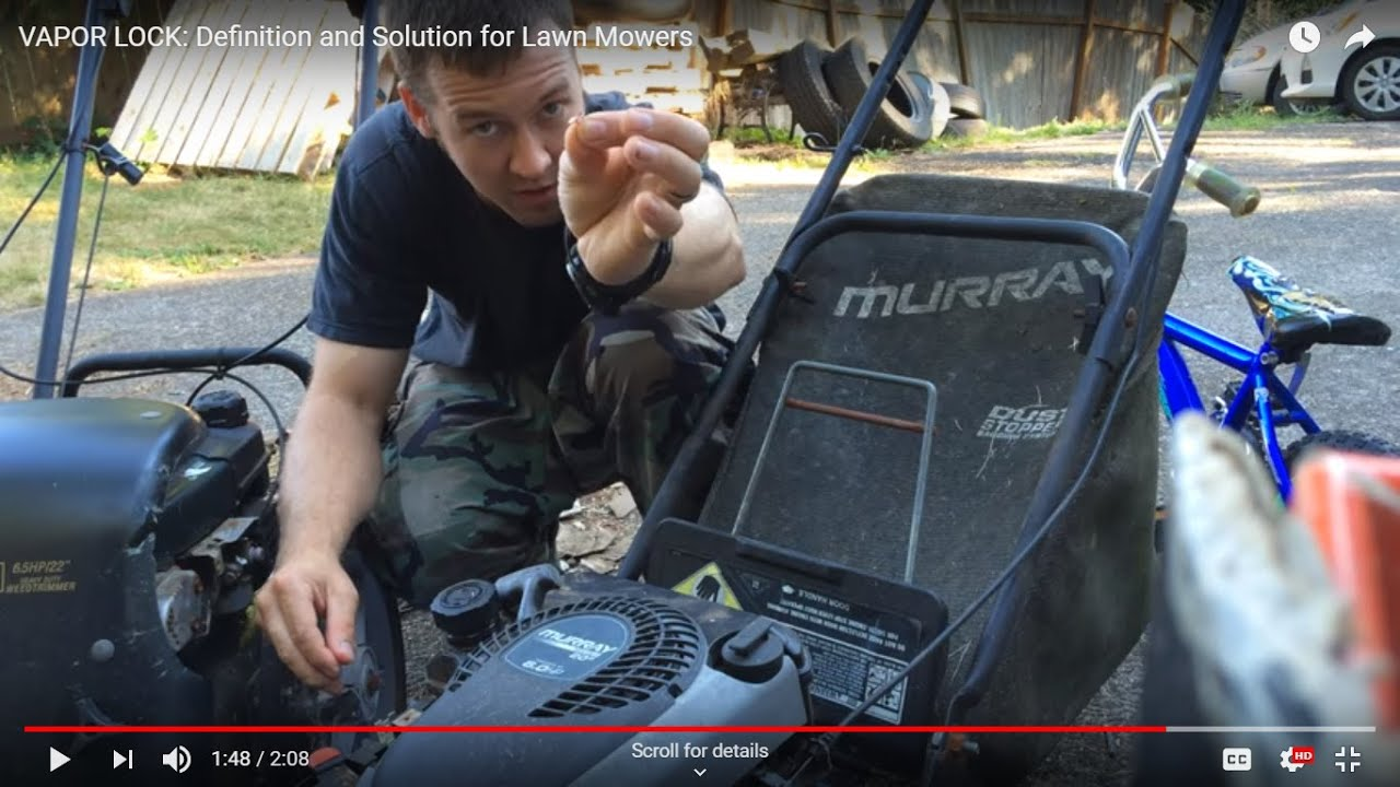 Lawn Mower Bad Gas Cap Solution   Fixes Stalling & Dying Issue Caused by  Vacuum
