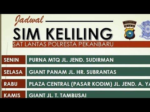 Jadwal Pelayanan SIM Keliling Sat Lantas Polresta Pekanbaru Mp3