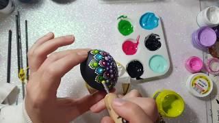 How to paint Mandala for BEGINNERS!!#10 Easter Egg Tutorial!(medium hard)