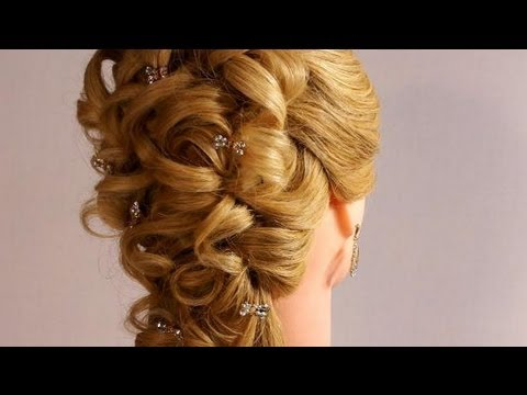 Wedding prom hairstyles for long hair. Romantic bridal hairstyles