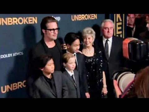 Брэд Питт представил в Голливуде драму «Несломленный» Анджелины Джоли (видео)