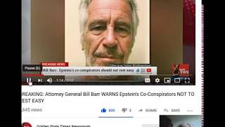 AG BILL BARR - EPSTEIN'S ASSOCIATES HAVE REASON TO BE WORRIED -  ALEX JONES -TRUMP ON BIG TECH ETC !