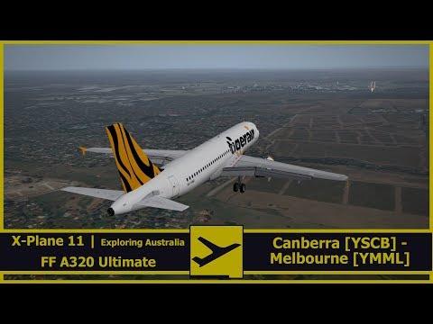 Exploring Australia |  Canberra [YSCB] - Melbourne [YMML]  | X-Plane 11 | FlightFactor Ultimate A320