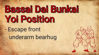 Bassai Dai - Bunkai/Application - Yoi position - Escape Front Underarm Bearhug