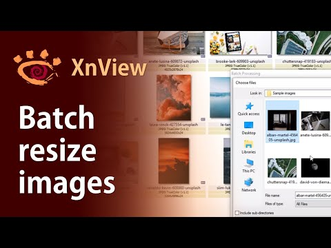 Batch Resize Images With XnView