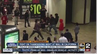 Fight at California mall caught on camera