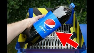 PEPSI (2,5L) SHREDDING! AMAZING EXPERIMENT!