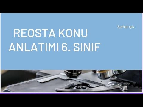 REOSTA 6. SINIF ( DERS 18)