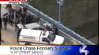 Pittsburgh Police Corner Suspect On Bridge After Wild Chase
