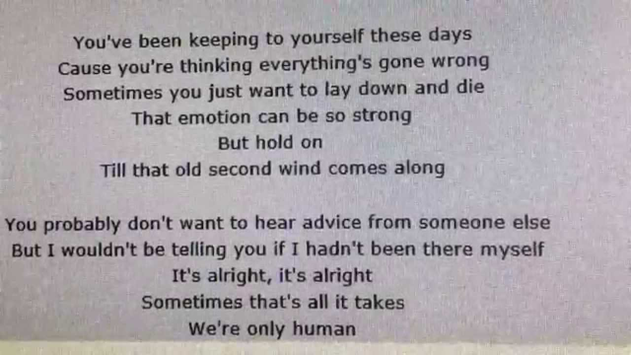 Billy Joel-You're Only Human(Second Wind)Lyrics - YouTube
