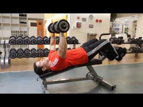 Decline Dumbbell Bench Press Chest Exercise