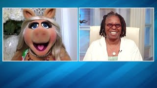 "Miss Piggy Tells Whoopi Goldberg About Her New Career Venture ""Muppets Now"" 