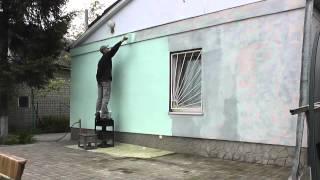 Покраска фасада дома своими руками(Как я красил дачный домик после утепления пенопластом снаружи и решил снять видео. Покраска фасада своими..., 2014-05-13T18:21:20.000Z)