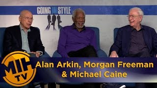 Alan Arkin, Morgan Freeman & Michael Caine Going In Style Interview