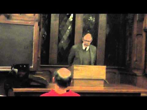 "Fred Baumann ""Anti-Semitism and Anti-Zionism"" at Kenyon College, Part 2"