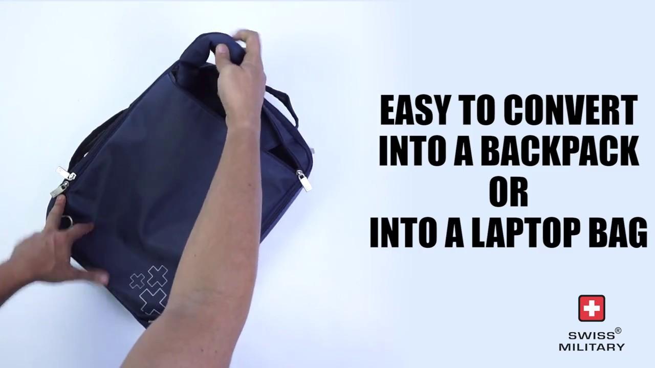 LB7 - SWISS MILITARY LAPTOP BAG - YouTube 61e36e361baca