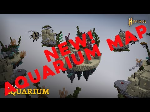 BED WARS FULL RELEASE | NEW AQUARIUM MAP (MINECRAFT HYPIXEL)