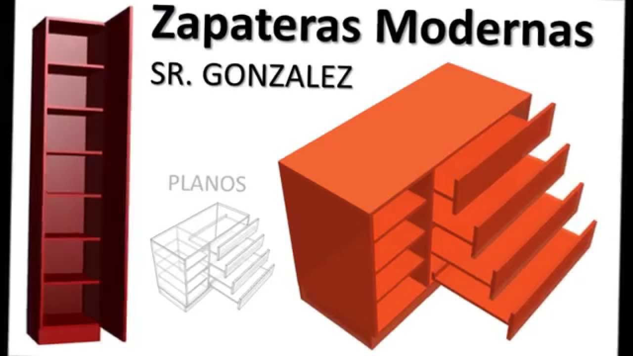 Construir zapatera dise o medidas modelos modernos con for Medidas de zapateras