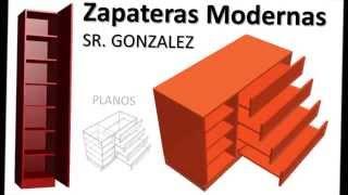 Repeat youtube video Construir Zapatera Diseño Medidas Modelos Modernos Con Planos