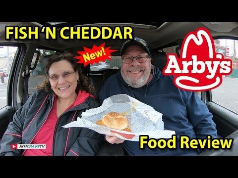 Arby's®   Fish 'N Cheddar Sandwich 🍔🧀👍   Taste Test & Review   JKMCraveTV