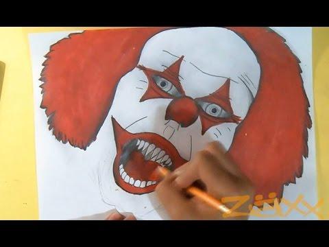 Dessin Clown Graffiti